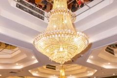 One of Landmark restaurant's stunning chandeliers
